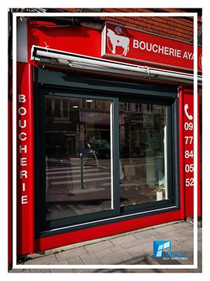 Pose de vitrine à Lille, Carvin